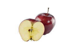 Czerwony jabłczany pojęcie dla zdrowej diety i ciało ciężaru kontrola Zdjęcia Royalty Free