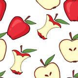 Czerwony jabłko, jabłczany sedno, przyrodni jabłko Obraz Royalty Free