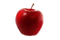 Czerwony jabłko odizolowywający zdjęcia stock