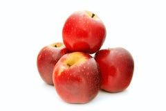 Czerwony jabłko odizolowywający na białym tle Obraz Royalty Free