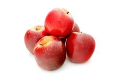 Czerwony jabłko odizolowywający na białym tle Obrazy Royalty Free