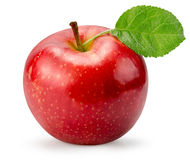 Czerwony jabłko odizolowywający na białym tle zdjęcia royalty free