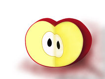 czerwony jabłczana ilustracja wektor
