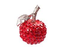 Czerwony jabłczany breloczka klejnot Zdjęcie Royalty Free