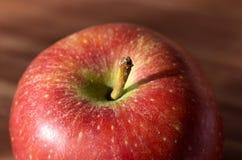 Czerwony jabłczany makro- Obraz Royalty Free