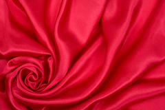 czerwony jedwab Zdjęcia Royalty Free