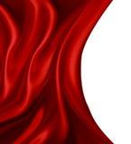 Czerwony jedwab royalty ilustracja