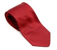 czerwony jedwabniczy krawat Obrazy Stock