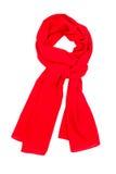 Czerwony Jedwabniczy szalik Fotografia Stock