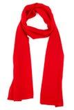Czerwony jedwabniczy szalik na białym tle Obrazy Stock