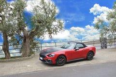 Czerwony kabriolet Fotografia Stock