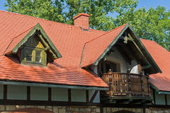 Czerwony kafelkowy dach Obrazy Royalty Free