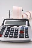 czerwony kalkulator Zdjęcia Royalty Free
