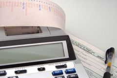 czerwony kalkulator Fotografia Stock