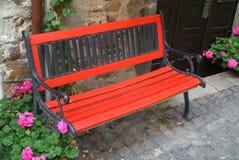 czerwony kanap Fotografia Stock
