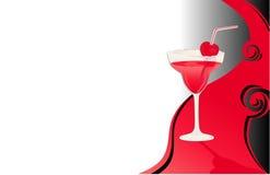 czerwony karty drinka ilustracji