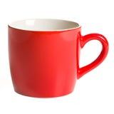 Czerwony kawowy kubek Fotografia Stock