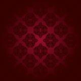 Czerwony klasyczny bezszwowy wzór Zdjęcia Stock