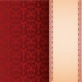 Czerwony klasyczny orientalny kwiecisty pionowo sztandar Obrazy Royalty Free