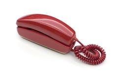 Czerwony klasyczny telefon zdjęcia stock