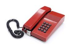 Czerwony klasyczny telefon obrazy royalty free