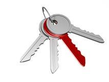 czerwony klucz wyjątkowy Obraz Stock