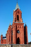 Czerwony kościół fotografia stock