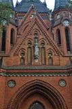 Czerwony kościół w Postorna Obrazy Royalty Free