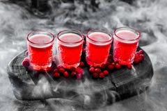 Czerwony koktajl z jagodą Zdjęcia Royalty Free