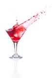 Czerwony koktajl z pluśnięciem fotografia stock