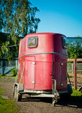 Czerwony konia transport Zdjęcie Stock