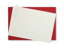 czerwony kopertę papieru Obraz Royalty Free