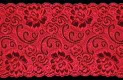 czerwony koronkowa Zdjęcie Stock