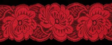 czerwony koronkowa Obrazy Royalty Free