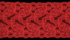 czerwony koronkowa Fotografia Royalty Free