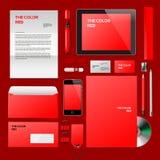 Czerwony Korporacyjny ID mockup ilustracji