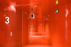 Czerwony korytarz Zdjęcia Stock