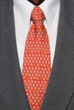 czerwony kostium krawata white Zdjęcia Royalty Free