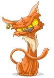 Czerwony kot ilustracji