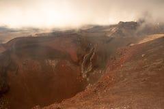 Czerwony krater Zdjęcie Stock
