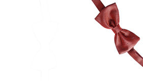 czerwony krawat bow Obraz Royalty Free