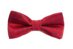 czerwony krawat bow Zdjęcie Royalty Free