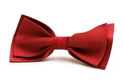 czerwony krawat ukłon odizolowane Zdjęcia Stock
