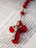 Czerwony krucyfiks Obrazy Royalty Free
