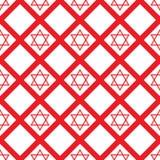 Czerwony krystaliczny David bezszwowy wzór Fotografia Stock