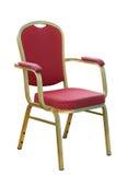 Czerwony krzesło metal. Zdjęcie Royalty Free