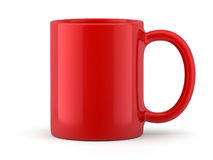 Czerwony kubek Odizolowywający Zdjęcia Royalty Free