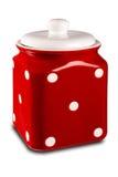 Czerwony kuchenny zbiornik Obrazy Royalty Free