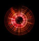 Czerwony kula ziemska abstrakt Zdjęcia Royalty Free