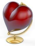 Czerwony kuli ziemskiej serce Zdjęcie Stock